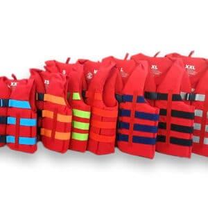 Prsluci Watersports – crveni – cordura 600D