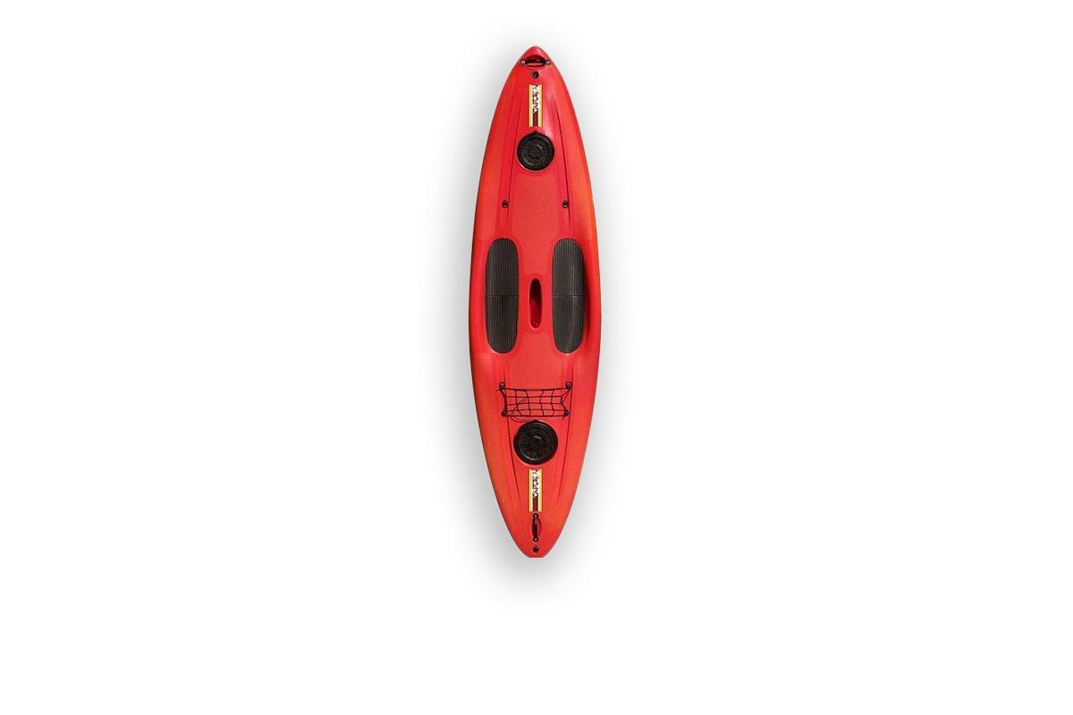 plastic sup kayak red